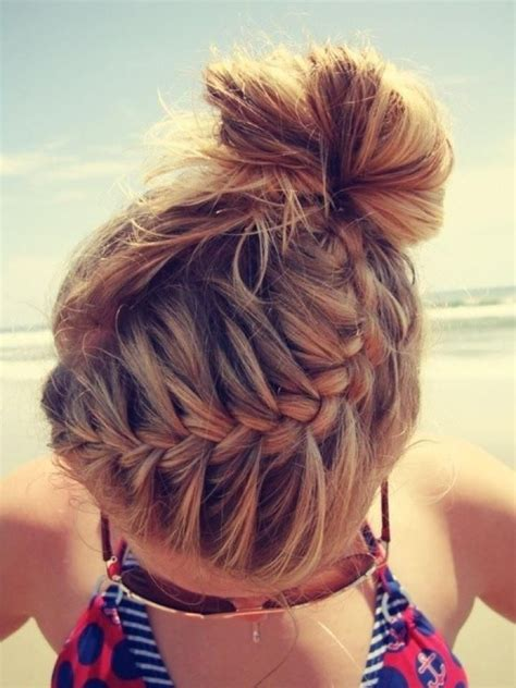 cute braided hairstyles going into a bun for black people braided updo french braid into bun hair girl world