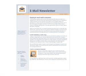 Email Newsletter Template Free by Free Newsletter Template 9 Free Word Pdf Documents