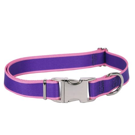 pink collars sterling stripes collection purple and light pink collar by yellow design