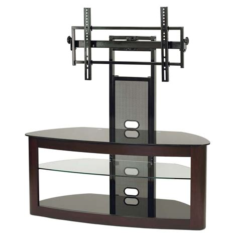 Glass Tv Stand With Mount by Transdeco Glass Tv Stand With Mounting System For 35 65