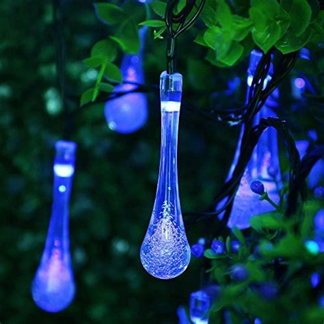Solar Icicle Lights Outdoor Solar Outdoor String Lights Icicle 15 7ft 8 Light Modes 20 Led Water
