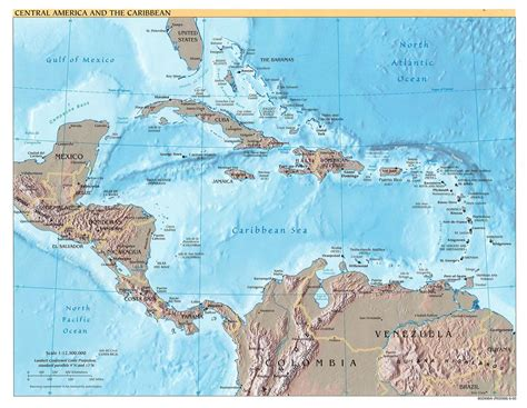 Cenral America Map by Central America Map Central America Mappery