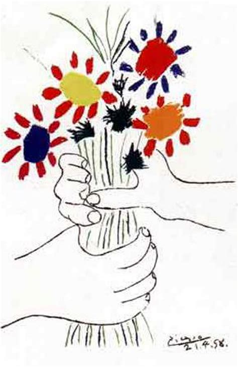 fayston elementary art inspired by picasso s quot flowers in hand quot