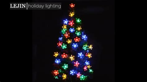 plastic solar string lights 30 led plastic flower solar powered led string lights