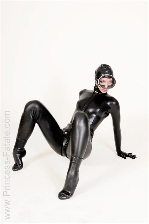 2 Hole Kitchen Faucet by Woman In Black Scuba Style Latex Catsuit Tight Suits