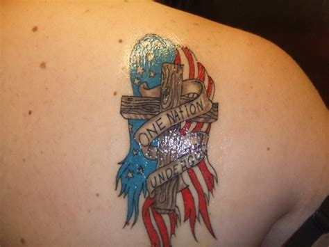 american flag cross tattoos cross tattoos and designs page 121