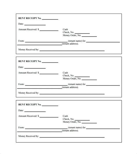printable rent receipt format india rent receipts template word printable rent receipt free