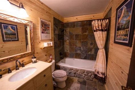 Shabby Chic Livingrooms by Rustic Log Cabin Bathroom Traditional Bathroom