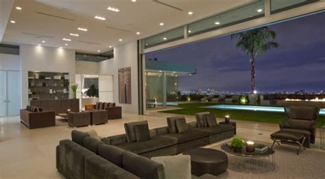 Home Design In Los Angeles by Contemporary And Elegant Living Room Interior Design Of