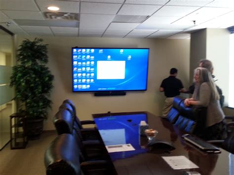 conference room tv pda conference room with sound bar and subwoofer 90 quot tv yelp