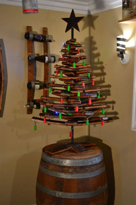 wine barrel stave christmas tree