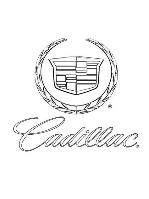 Dibujo con el logo Cadillac para imprimir | Dibujos para