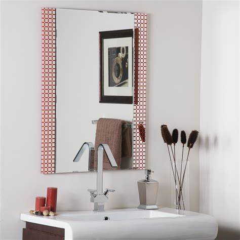 bathroom frameless mirror decor wonderland hip to be square frameless bathroom