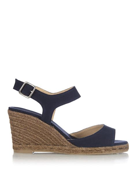 castaner benic open toe espadrille wedge sandals in blue