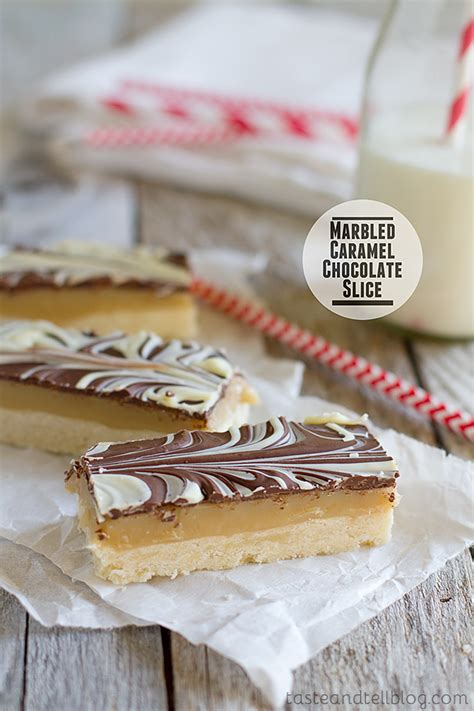 Link Marbled Caramel Chocolate Slices by Marbled Caramel Chocolate Slice Cookbook Of The Month