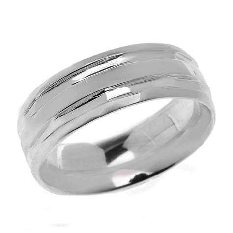 sterling silver comfort fit wedding bands gold diamond silver jewellery comfort fit modern