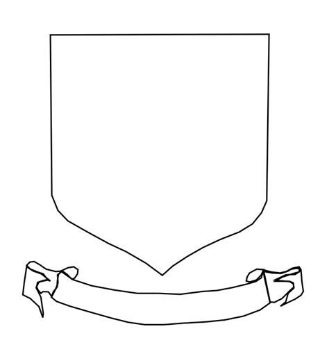 blank shield template printable shield blank sca heraldry