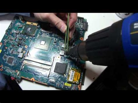 replace capacitors laptop motherboard motherboard repair tutorial bad capacitor replacement how to save money and do it yourself