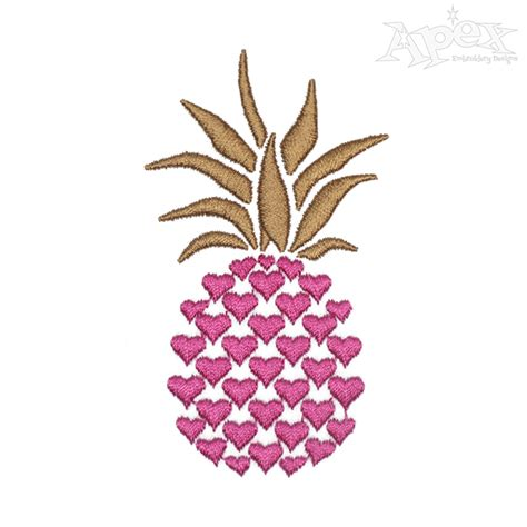 pina design pineapple embroidery design