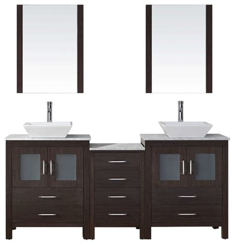 dior 66 quot double bathroom vanity cabinet set modern