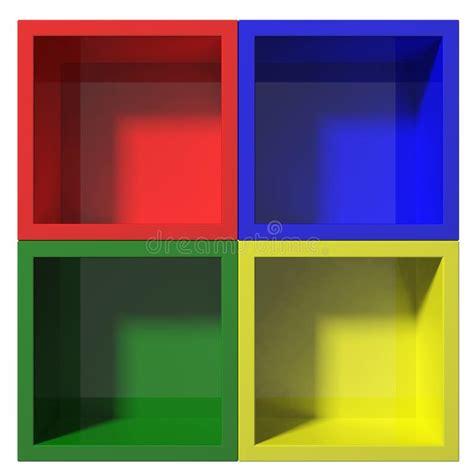 scaffali colorati multi scaffali colorati illustrazione di stock