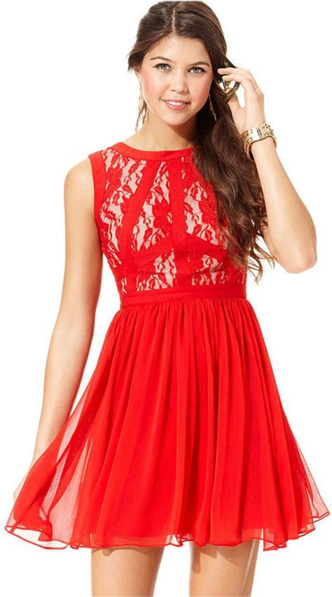 Red lace dress macy?s   Pictures Reference