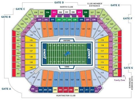 detroit lions 3d seating chart ford field seating chart detroit lions in play magazine