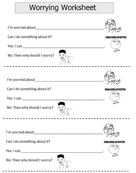 Depression Worksheets For Adults by Worry This Is A Worksheet Not Sure If I Can Use It