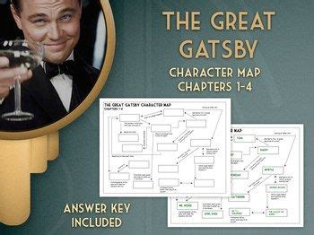 themes in the great gatsby chapter 4 the great gatsby character map review activity chapters