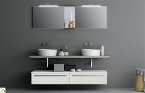 mobili lavello bagno bagno moderno con 2 lavandini everett arredo design