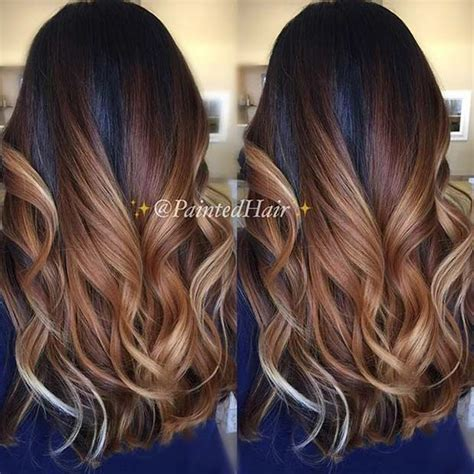 balayage ombre highlights on dark hair 21 stunning summer hair color ideas stayglam