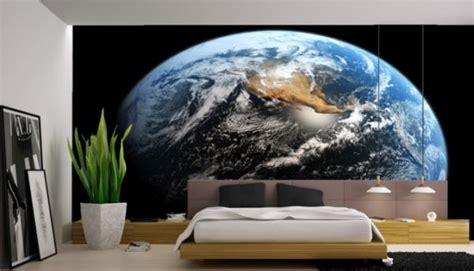 space themed wall murals celebrate moon landing with interiors inspired by the cosmos