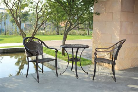 rattan bistro set 3 furniture table and chairs