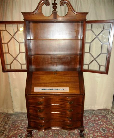 4 drawer secretary desk furniture antique maddox mahogany serpentine 4 drawer for