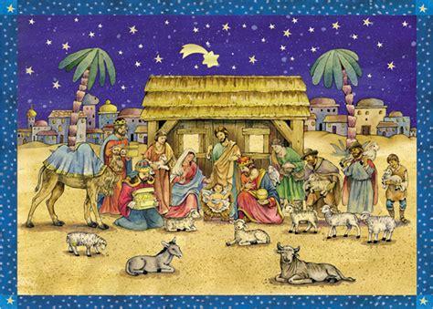 advent calendar nativity stable scene christmasshop
