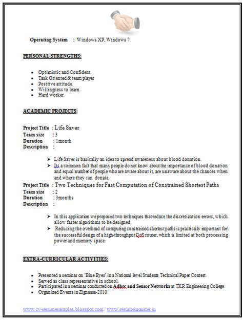 cv and resume sles free template best free template for you