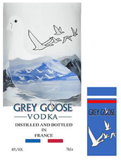 Vodka Grey Goose Labels Cake Topper Icing Vodka Label Template