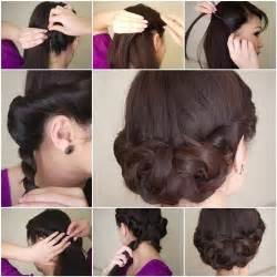 step by step easy updos for thin hair diy simple and awesome twisted updo hairstyle