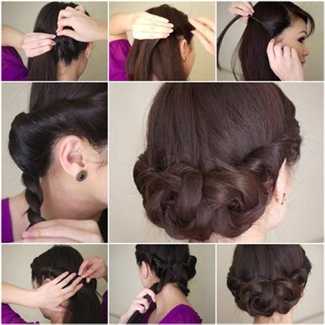 do it yourself hair stylesfor shoulder length hair diy simple and awesome twisted updo hairstyle