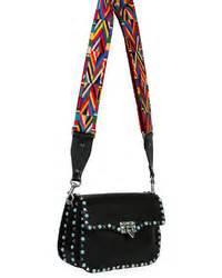 Valentino Ethnic Ori Leather Black t shirt ethnic tab crossbody bag where to buy