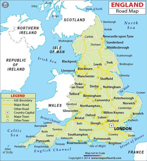 printable road map of new england england road map