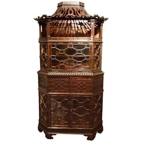 chippendale vitrine edwardian era chippendale style vitrine at 1stdibs