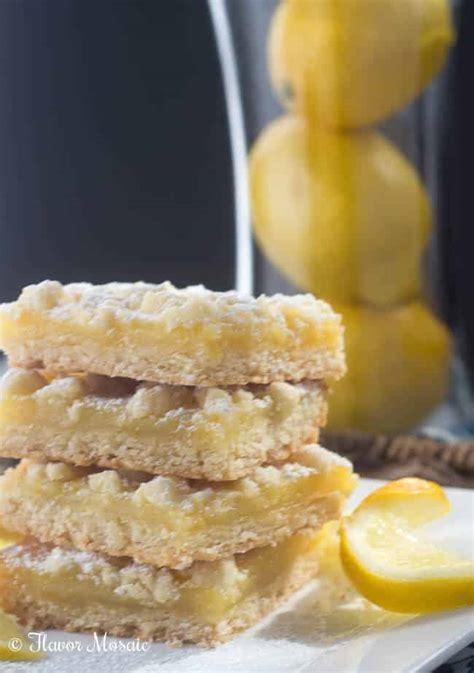 lemon bars with crumb topping lemon crumb bars flavor mosaic