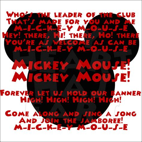song lyrics mickey mouse mickey mouse clubhouse lyrics instant digital