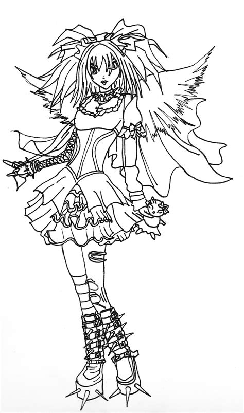 coloring book for goths line by kestrel36 on deviantart