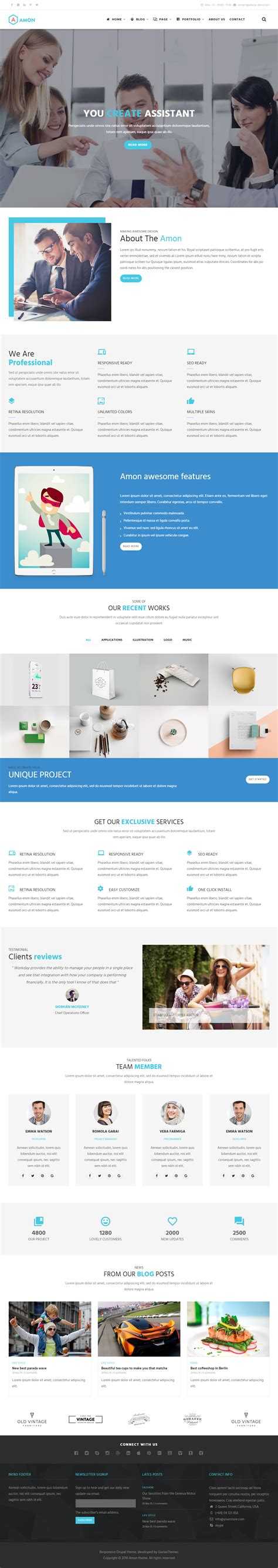 themes for drupal 8 40 best drupal 8 themes and templates 2017 responsive