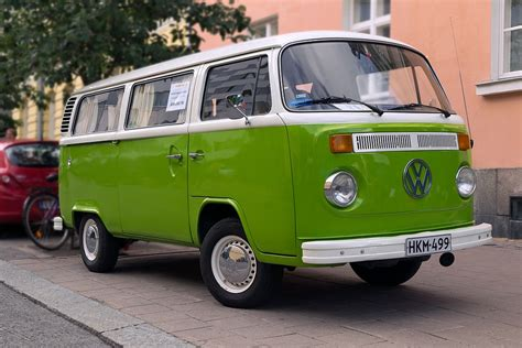 green volkswagen van free photo volkswagen old van car green free image