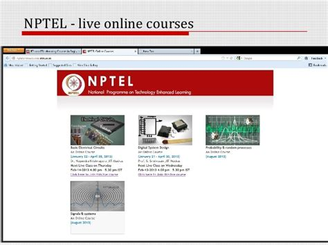 design for environment nptel nptel curriculum and courses classes professional