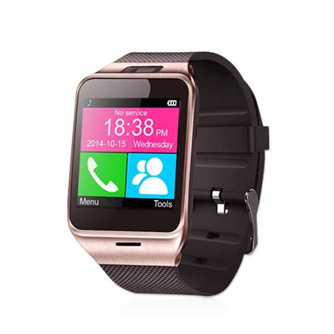 android smart wearable device health pedometer mp3 waterproof bluetooth gv18 smartwatch with sim card mobile