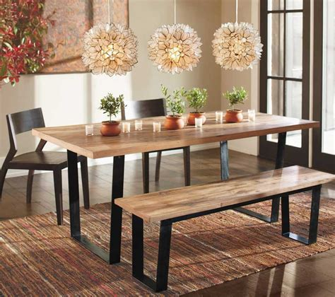 black dining room bench rustic dining room design with rectangular railroad tie